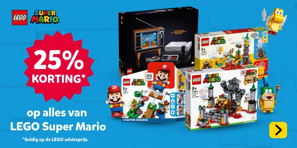 25% korting op LEGO Super Mario